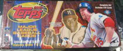 2000 Topps - SEALED FACTORY SET (478 cards) Baseball cards value