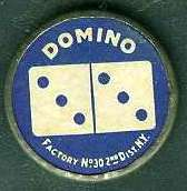 1910 Sweet Caporal Domino Discs Baseball card back