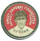 1910 Sweet Caporal Domino Discs Baseball card front