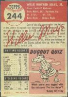 1953 Topps Baseball card back