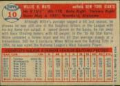 1957 Topps Baseball card back