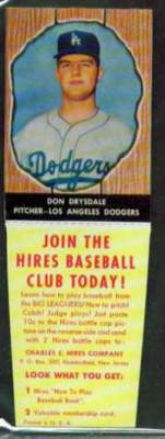 1958 Hire Root Beer  Baseball card front