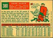 1959 Topps Baseball card back
