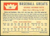 1960 Fleer Baseball card back