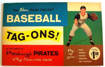1960 Pirates Tag-Ons  Baseball card front
