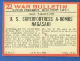 1965 Philadelphia WAR BULLETIN  n card back