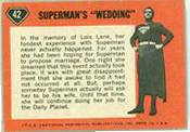 1965/1966 Topps SUPERMAN  n card back