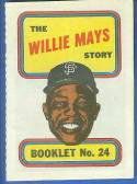 1970 Topps Comics Booklets Baseball card front