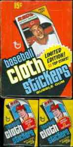 1977 Topps Cloth Stickers Baseball card back