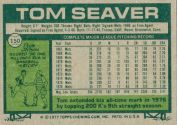 1977 Topps Baseball card back