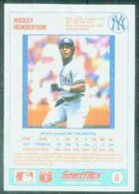 1988 Sportflics Gamewinners Baseball card back