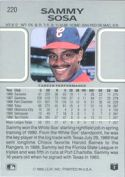 1990 Leaf Baseball card back