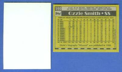 1990 Topps Blank Front Proofs Baseball Cards Set Checklist Prices