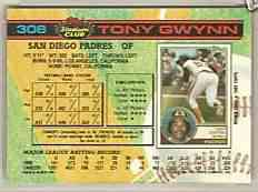 1991 Topps STADIUM CLUB  Baseball card back