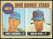 1993 NOLAN RYAN Brookshire Bros. Stickers  Baseball card front