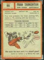 1962 Topps Football card back