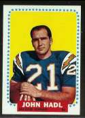 1964 Topps Football card front