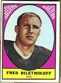 1967 Topps Football card front