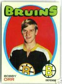 1971-72 Topps Hockey card front