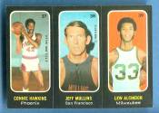 1971-72 Topps Trios Basketball card front