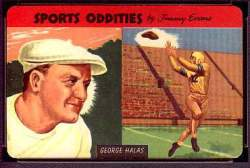 1954 Quaker Oats Sports Oddities  Baseball card front
